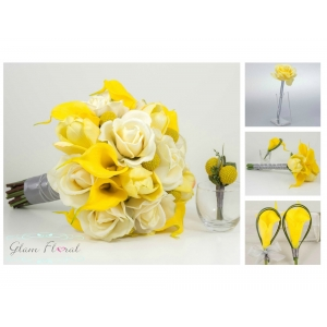 Yellow Wedding Flower Package- 11 Piece