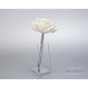 Cream Rose- Silver Guestbook Pen