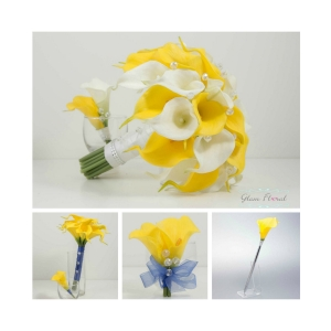 Yellow Calla Wedding Flower Package- 11 Piece