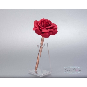 Red Rose- Rose Gold Guestbook Pen
