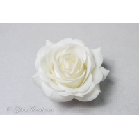 Cream Tea Rose Hair Clip