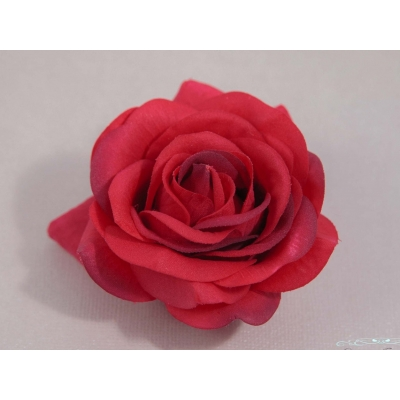 Red Tea Rose Hair Clip