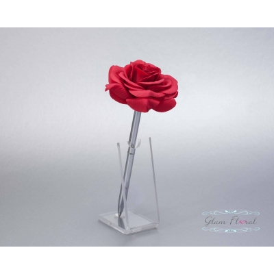 Red Rose- Silver Guestb..