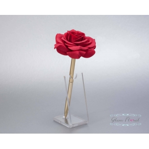 Red Rose- Gold Guestbook Pen