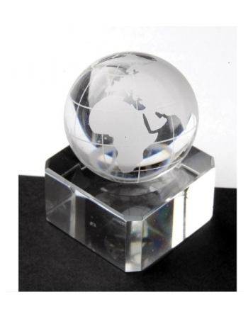 Clear World Map Marbles