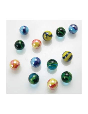 35 Small Marbles 14 - 17 mm