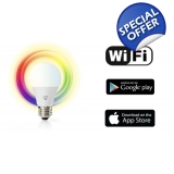 WiFi Smart LED Bulb - Full Colour and ..