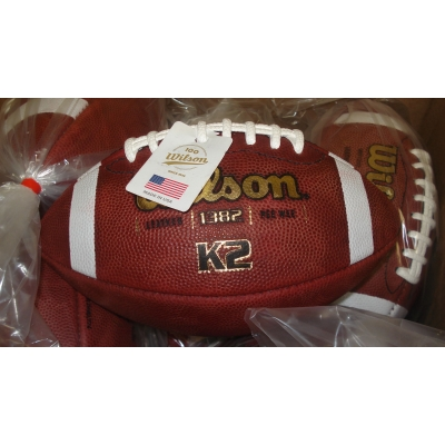 WILSON K2 PEE WEE LEATHER FOOTBALLS 6