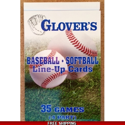 GLOVERS 4 PART LINE UP CARDS 35 games