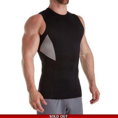 Russell Mens Sleeveless Compression Perf Tops 15 pieces
