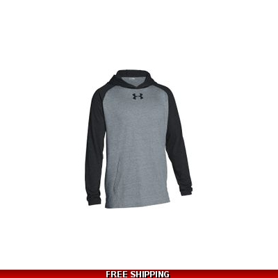 Under Armour Mens Stadium Lt Weight Hood grey/black
