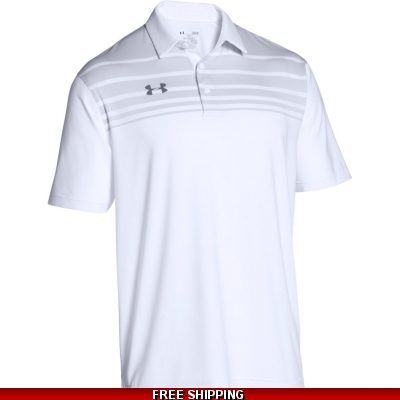 Under Armour Mens Victor Polo Shirt white/grey 1293909 size XLarge