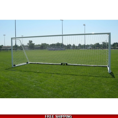 Champro NS3T PAIR FULL SIZE SOCCER NETS white 24x8 FIFA 4mm twisted