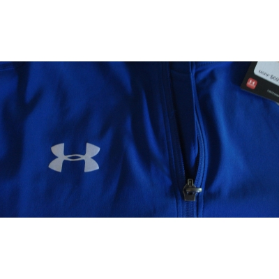 Under Armour 1/4 zip Long Sleeve cage jacket Royal SMALL 1277361