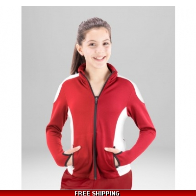 Covalent Womens Alpine Jacket 5051 Red/White LARGE full zip