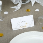 Scripted Marble - Place Card..