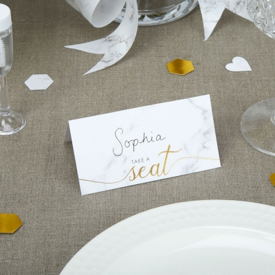 Scripted Marble - Place Cards- pack of 25