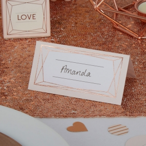 Geo Blush Place Cards Pack of 25