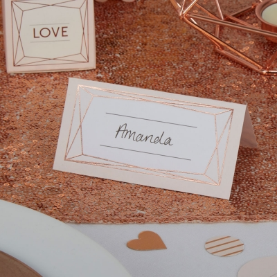 Geo Blush Place Cards P..