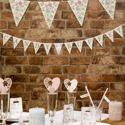 With Love - Candy Buffet Bunting