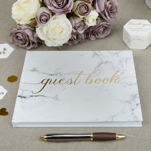 Scripted Marble Guest Book