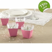 Scallop Favour Boxes - Baby Pink - Pack of 100