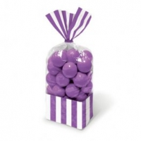 Sweetie Cello Bags - Purple Stripe