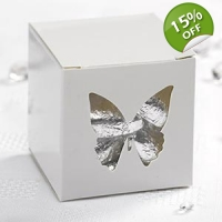 Elegant White Butterfly Favour Boxes