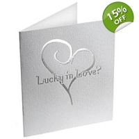 Contemporary Heart Lottery Ticket Holders White and Silver