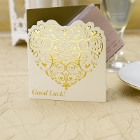 Vintage Romance Lottery Ticket Holders- Ivory and Gold