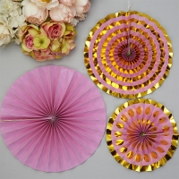 Lilac Pinwheel Decorations 3 pk