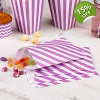 Carnival Sweetie Bags Purple - Pack of 25