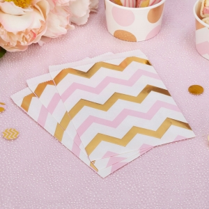 Pattern Works Sweetie Bag Pink Chevron - Pack of 25
