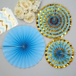 Blue Pinwheel Decorations 3 pk