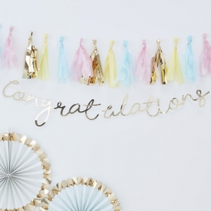 Gold Foiled Congratulations Bunting