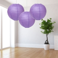 Lilac Paper Lantern Decoration - Pack of 3