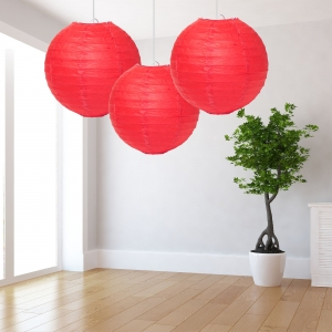 Red Paper Lantern Decoration - Pack of 3