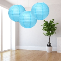 Blue Paper Lantern Decoration - Pack of 3