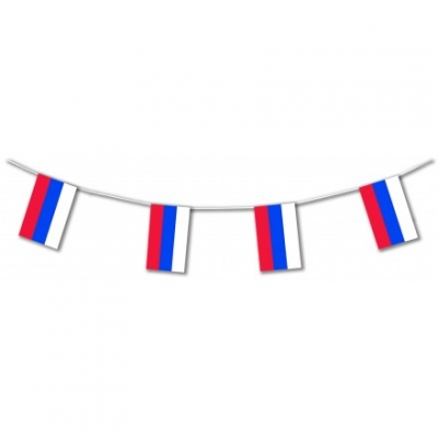 Russian International Flag Bunting