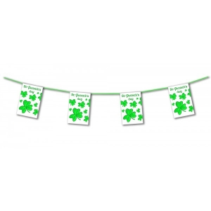 Happy St Patricks Day Clover Bunting