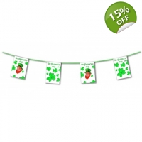Happy St Patricks Day Leprechaun & Clover Bunting