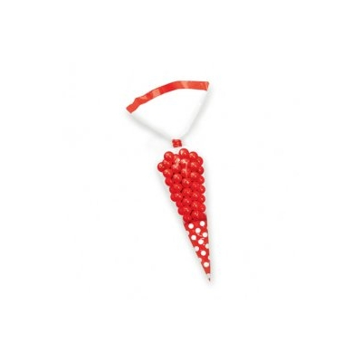 Candy Cone Polka Dot Treat Bags - Red