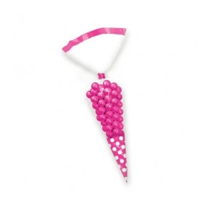 Candy Cone Polka Dot Treat Bags - Hot Pink