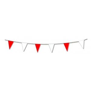 Red and White Pennant Bunting