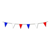 Green, White and Orange Pennant Bunting