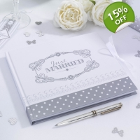 Chic Boutique - Guest Book- White & Silver