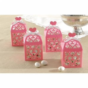 Lantern Favour Boxes -Baby Pink- Pack of 50