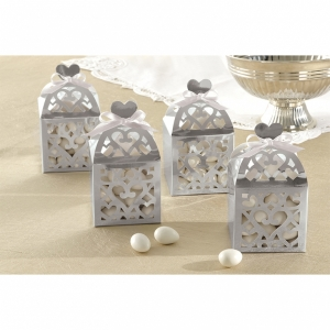 Lantern Favour Boxes -Silver- Pack of 50
