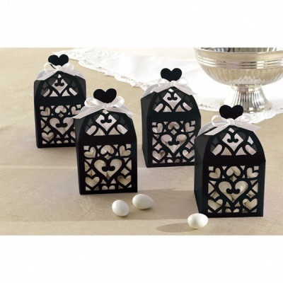 Lantern Favour Boxes - Black - Pack of 50