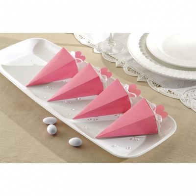 Cone Favour Boxes Baby Pink- Pack of 50